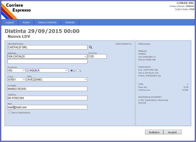 Shipping On Line soluzione web per generare lettera di vettura - Eurosoftware