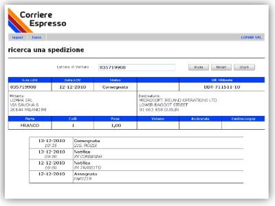 Tracciare spedizioni in tempo reale con Tracking On Line Courier di Eurosoftware