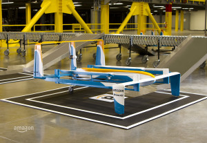 Consegna pacchi con drone e-commerce Amazon Prime Air