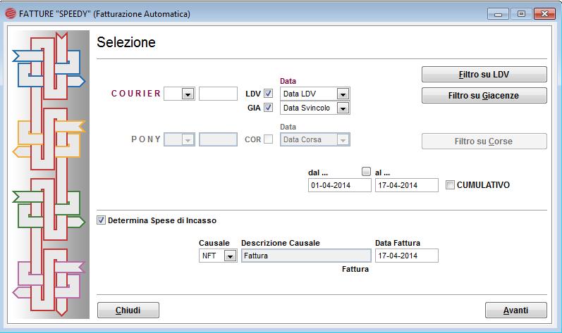Fatturazione automatica Courier software gestionale trasporti spedizioni