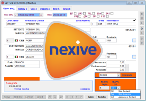 autoproduzione lettere di vettura Nexive software Courier