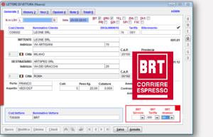 autoproduzione lettere di vettura BRT Courier gestionale corrieri