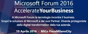 Microsoft Forum 2016. Appuntamento a Milano il 19 aprile