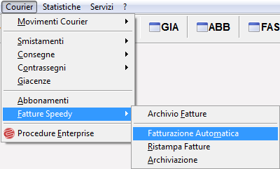 Fatturare in modo automatico Courier software gestionale